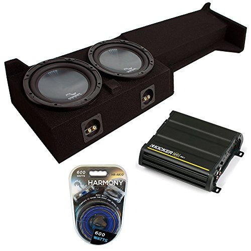"2005-2015 Nissan Frontier Crew Cab Truck Harmony R104 Dual 10"" Sub Box"