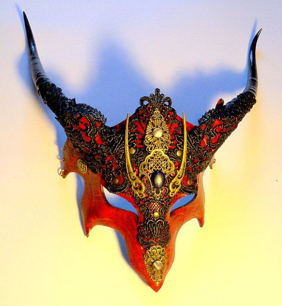Red Dragon Mask by VincentCantillon on Etsy