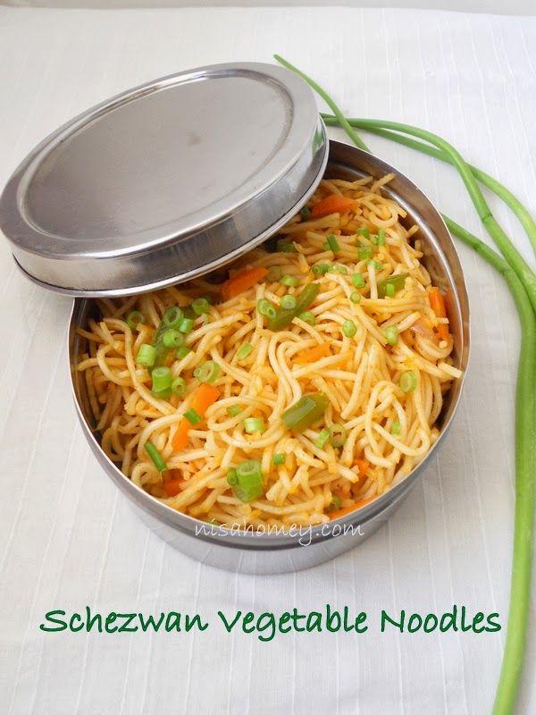 Cooking Is Easy: Schezwan Noodles Recipe - How To Make Veg Schezwan Noodles.