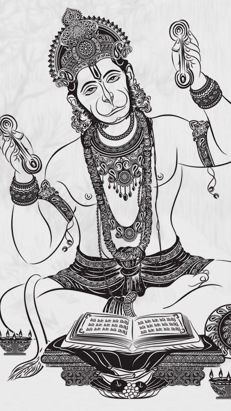 Lord Hanuman Art 4K Ultra HD Mobile Wallpaper in 2020