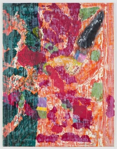JIM DINE The Packing of a Sea of Glass 2015 Woodcut, three hand-applied collaged elements, power-tool abrasions and lacerations, and hand-painted acrylic on Hahnemuhle 350gm Off White paper 63″ x 49″ / 160 x 124.5 cm Edition of 6 Jonathan Novak Contemporary Art, Los Angeles http://novakart.com/artists/jim-dine/