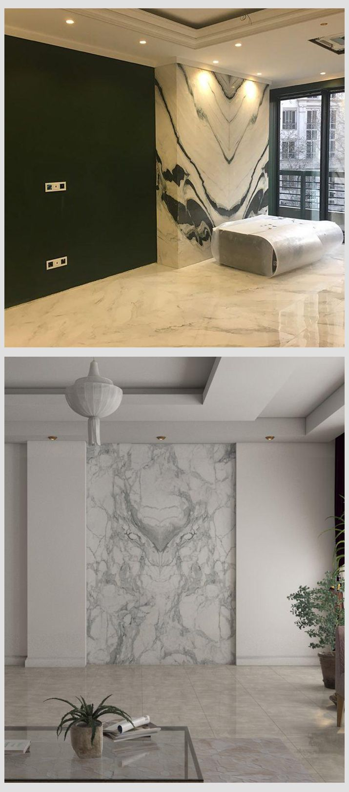 Bookmatched Grey And White Marble Grey Marble Wallp