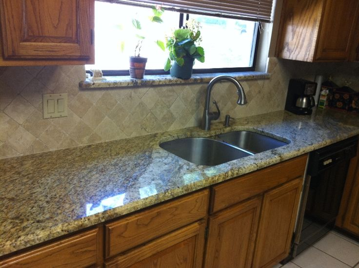 25 best images about kitchens on pinterest farmhouse for Examples of granite countertops in kitchens