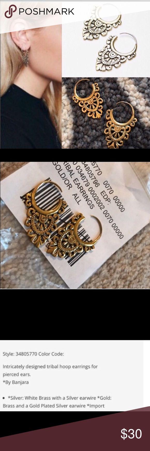 New Free People Banjara  tribal earrings gold tone Free People beautiful Banjara tribal earrings . Gold color .sold out Free People Jewelry Earrings