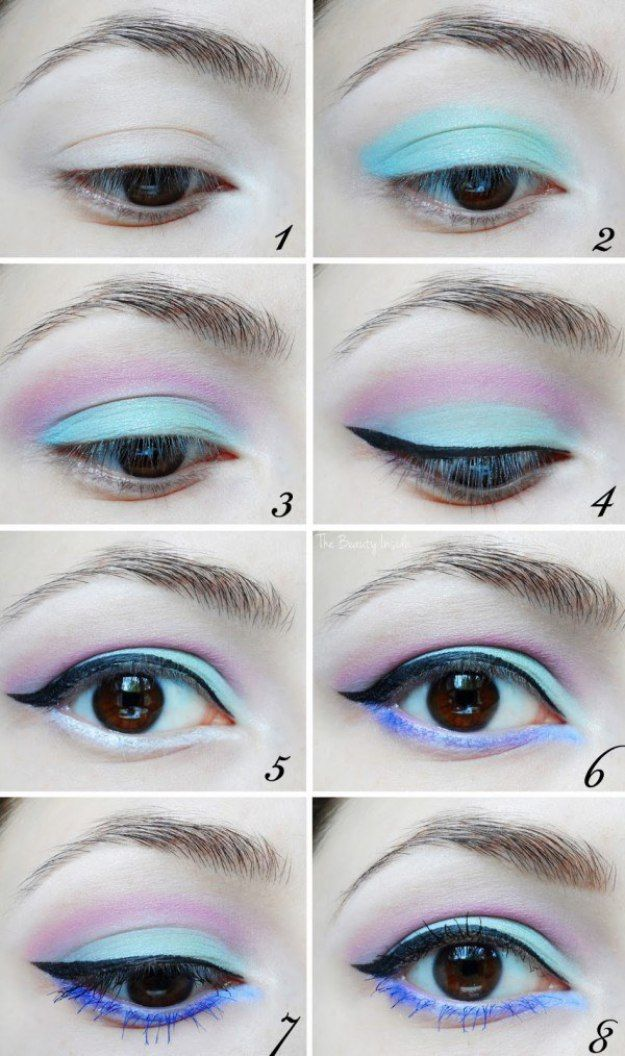 17 Insanely Beautiful Makeup Ideas: #7. Live out your best pastel goth life with this eyeshadow.