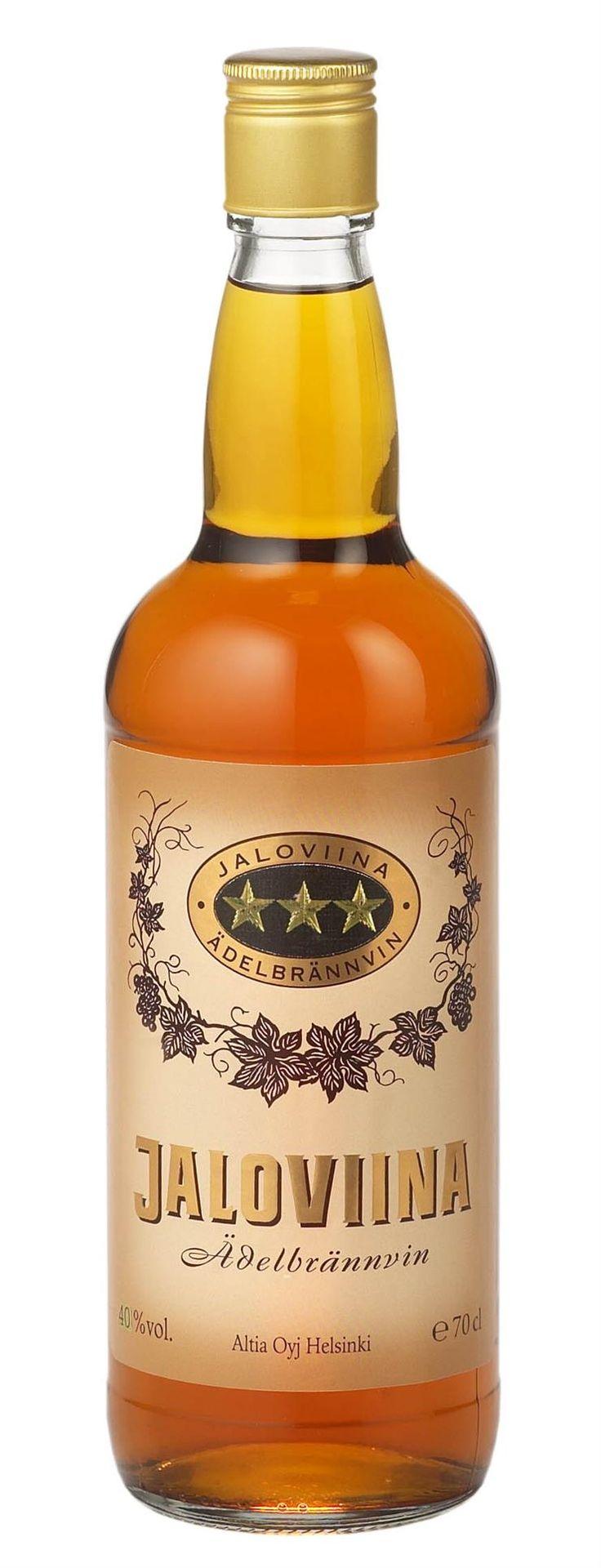 Jaloviina - Ädelbrännvin - Kolmen tähden Jallu ... #viina #alkoholi #mainos