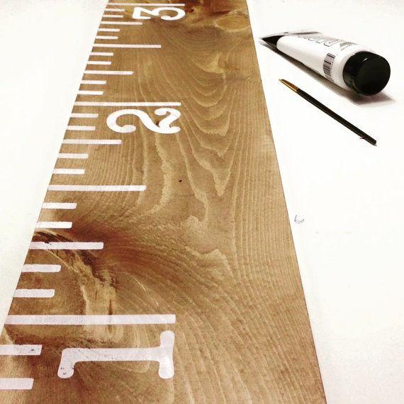 Wooden Growth Chart Growth Chart Ruler 6' by FallenTimberCrafts