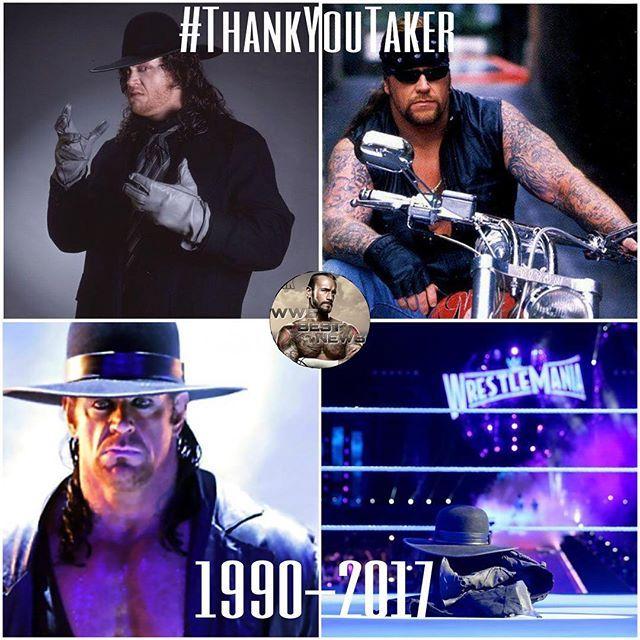 Nothing more to say than #thankyoutaker a true legend ⚱️⚰️ - - - #wwe #wwememes #wweraw #wwe2k17 #wwesmackdown #wwedivas #wweuniversalchampionship #wweworldheavyweightchampionship #wwelegends #wwenetwork #wwefunny #wweworldheavyweightchampion #wwememe #wweuniverse #wwelive #wrestling #wrestlemania #undertaker #ajstyles #johncena #deanambrose #romanreigns #sethrollins #finnbalor #randyorton #hardyboyz