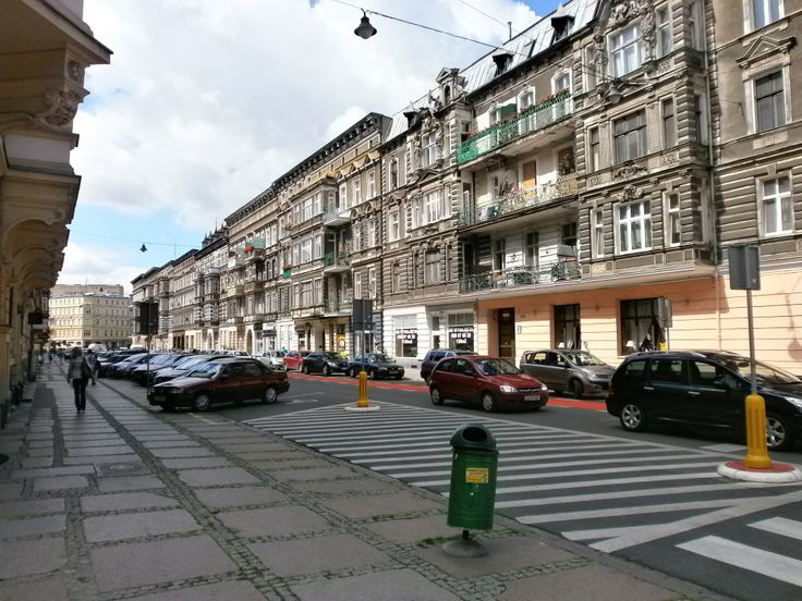 View of a typical Street in Szczecin