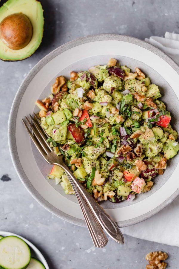 Avocado Chicken Waldorf Salad Recipe Dairy Free Salads