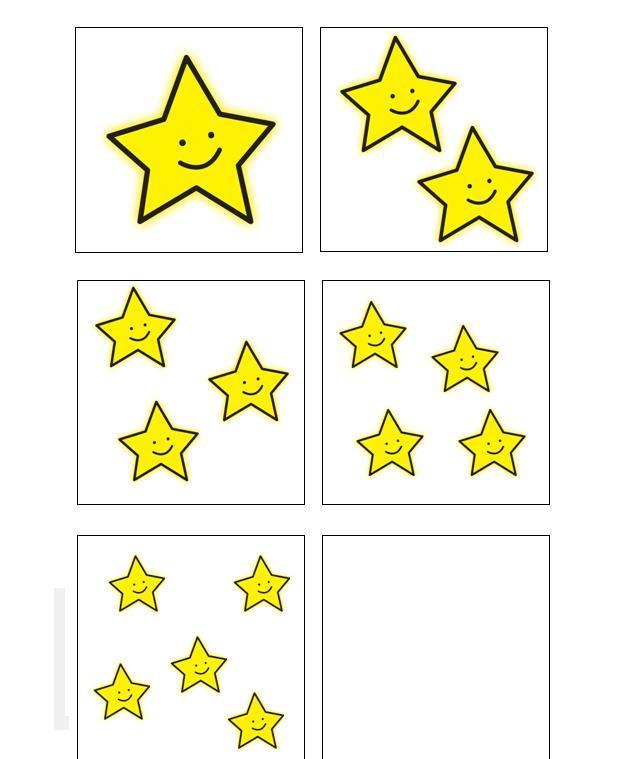 Dobbelsteenspel met sterren van 0 tot 5