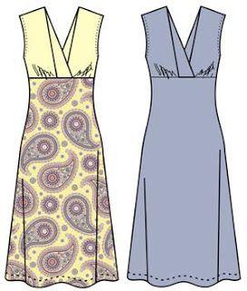 Patrón gratis: vestido con escote en V para múltiples usos (verano, invierno, fiesta, trabajo...)