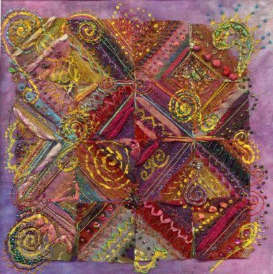 Indian Mosaic - Creative Kit - Stef Francis, World of Thread & Fabrics.  Beautiful colours.