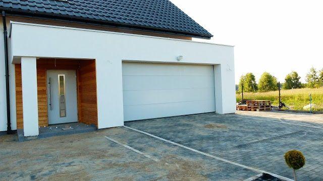 Wejście i brama garażowa  #garaż #dom #projekt