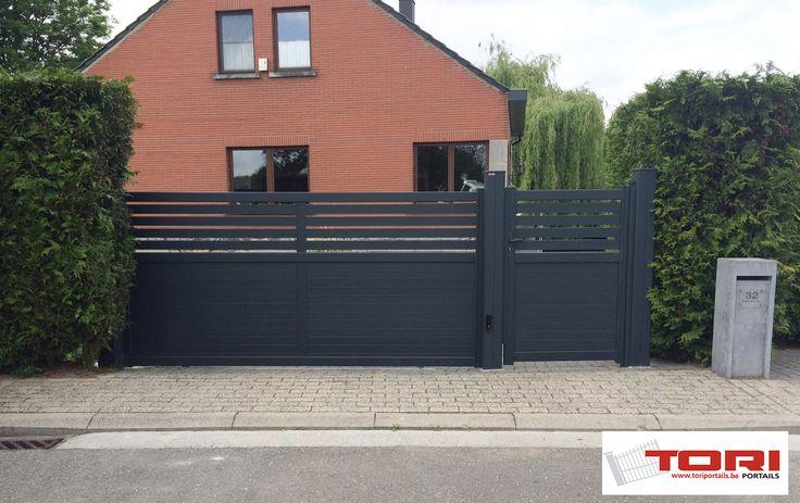 Portail coulissant aluminium diaouled portail et cl ture for Portail jardin aluminium