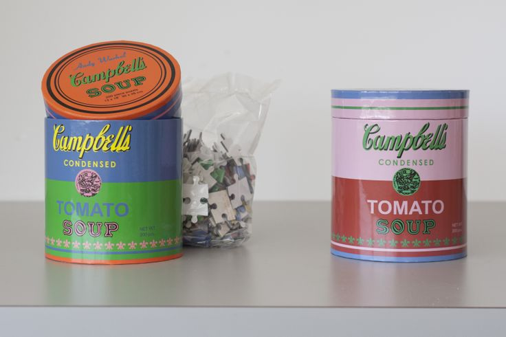 Andy Warhol's Campbell's Soup Cans are amongst the most recognizable and celebrated works in the history of art--and  now it's a 200-piece puzzle.Celebrities Work, Warhol Campbell'S, 200 Piece Puzzles, Art, Museums Stores, Glorious Design, Fun Things, Andy Warhol, Campbell'S Soup