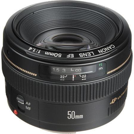 Canon EF Lenses CANON EF 50mm f/1.4 USM Lens + $100 Cash Back
