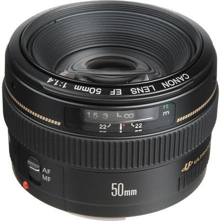 Canon EF Lenses CANON EF 50mm f/1.4 USM Lens + $100 Cash Back