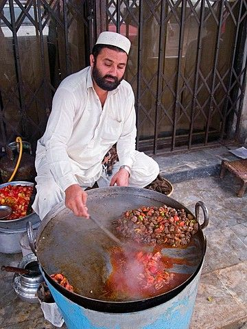 Afghan food vendor . Peshawar, Pakistan