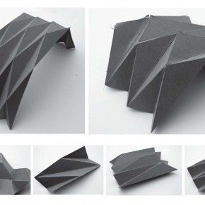 folded plate system_paper arch model