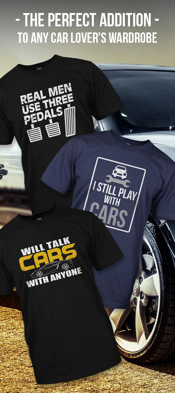 Love cars? So do we. Come check out selection of shirts perfect for any car lover. Plus buy two or more items and get free shipping.