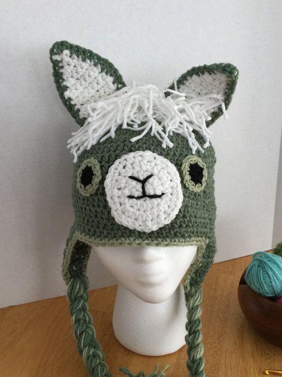 Crochet Llama Hat Adult Sized