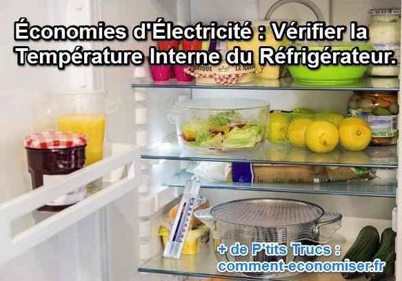 La bonne température interne conseillée pour le réfrigérateur est de 4°C. Comment savoir si votre réfrigérateur est à la bonne température. C'est très simple.  Découvrez l'astuce ici : http://www.comment-economiser.fr/ecolo-economies-refrigerateur-bonne-temperature.html?utm_content=buffer53c6d&utm_medium=social&utm_source=pinterest.com&utm_campaign=buffer