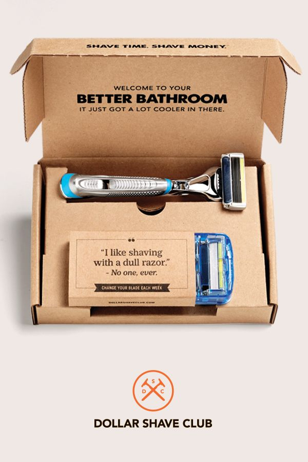 Spring Cleaning for your shave gear. Get amazing Dollar Shave Club razors delivered for just a few bucks. Try the Club.