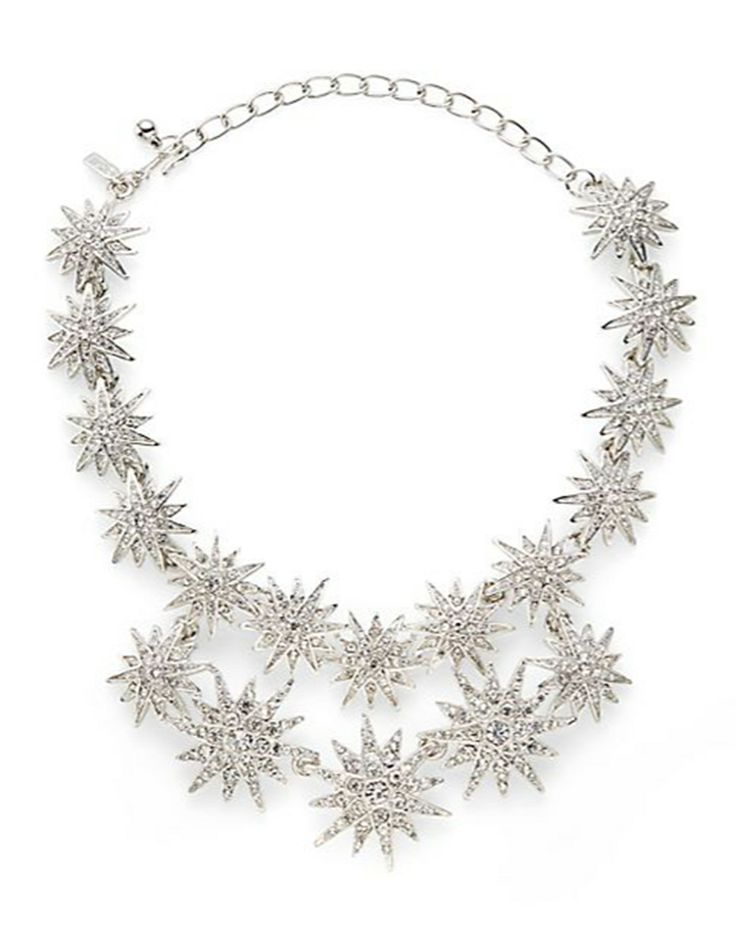 Kenneth Jay Lane Starburst Double Row Necklace