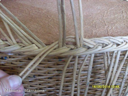 Поделка изделие Пасха Плетение Несколько плетушек + маленький МК Бумага газетная Трубочки бумажные фото 23
