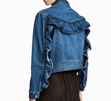 Flounced denim jacket