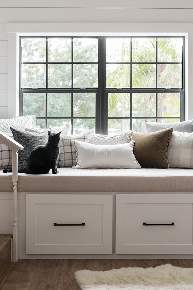 Http Blog Jennasuedesign Com 2018 12 The Big Pillow Post Storage Bench Seating Dining Room Bench Window Bench Seat