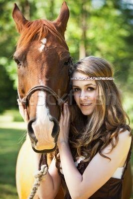 Stockfoto - meisje · paard · portret · mode · jonge · tiener © Arema Foto (aremafoto) (#167911) | Stockfresh