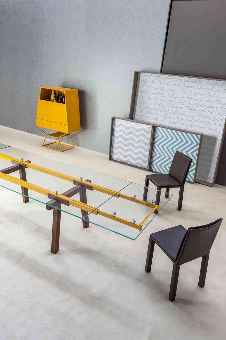 Tracks #table #design Alain Gilles & Kuva soft #chair design Bartoli Design by #Bonaldo