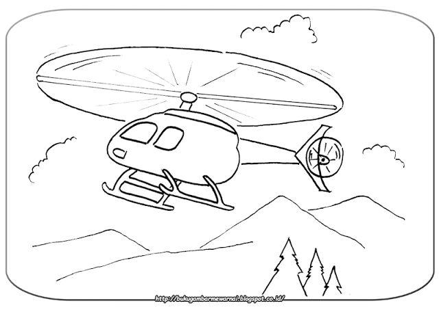 Gambar Mewarnai Helikopter - Gambar di atas adalah gambar mewarnai helikopter. Helikopter merupa...