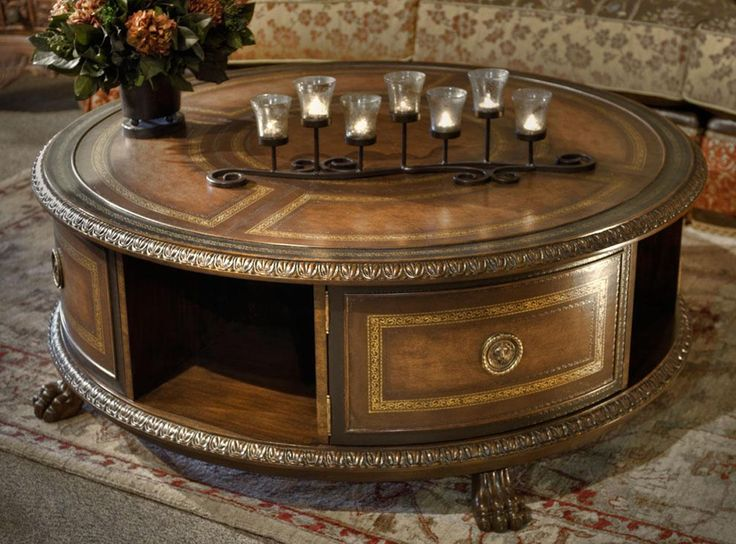 18 best images about round coffee tables on pinterest for Clock coffee table round