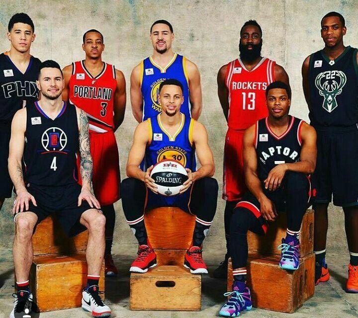 All Star Toronto 2016 Three Point Contest #stephcurry #klaythompson #jamesharden #kylelowry #jjreddick #cjmcullom #devinbooker
