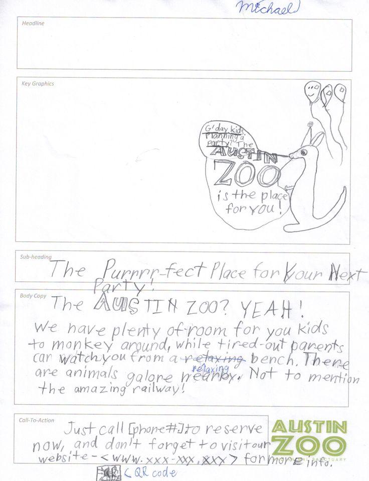Michael's Austin Zoo Print Ad