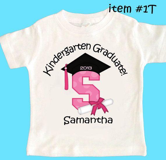 Kindergarten Graduation Any Grade personalized t-shirt shirt Boys and Girls Style on Etsy, $13.00