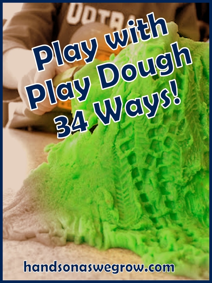 34 ways to Pretend, Create & Learn with Play Dough. We'll never be bored with play dough again! Wowsas!: Favorite Things, Create Learning, Have Fun, Sensory Art, Playdough Ideas, Play Dough, Art Projects, Plays Dough Activities, Playdough Fun