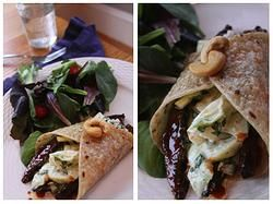 BBQ Portobello Steak Wrap with Cilantro Coleslaw from Lighter