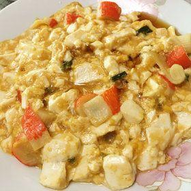 蛋黄蟹粉豆腐