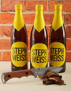 Fine Wine and Spirits - Beer: Steph Weiss Craft Beer with Biltong Knife!