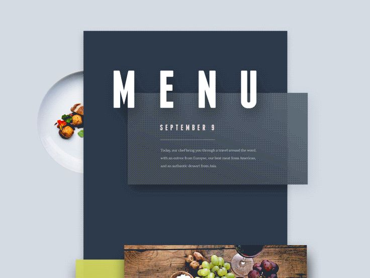 Menu from the world