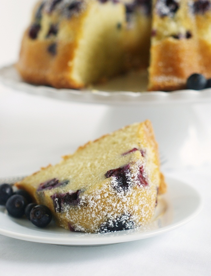 Blueberry Bundt cake for breakfast! Yes!