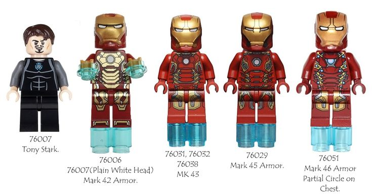Guide to ALL LEGO Iron Man to date.