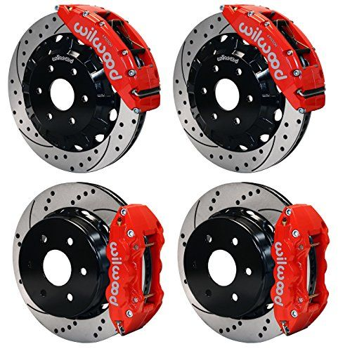 "NEW WILWOOD COMPLETE 16"" FRONT & 14.25"" REAR DISC BRAKE KIT WITH BRAKE LINES & FITTINGS, DRILLED ROTORS, BRAKE HATS, RED CALIPERS, PADS, FOR 1999-2013 CHEVY GMC CADILLAC TRUCKS SUVS THAT HAVE OE SINGLE PISTON REAR CALIPERS SILVERADO SIERRA SUBURBAN AVALANCHE 1500 TAHOE YUKON YUKON XL 1500 & ESCALADE Southwest Speed http://www.amazon.com/dp/B00W2M0QCG/ref=cm_sw_r_pi_dp_tyzmvb1CQB5TE"