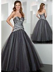 Taffeta Sweetheart Side Draped Bodice Long Prom Dress
