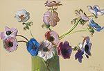 Leon Wyczółkowski Anemones, 1904 pastel, paper