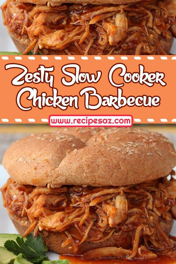 Zesty Slow Cooker Chicken Barbecue Recipe Recipes A To Z Best